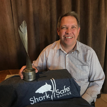 Award Winner: Sharksafe (Pty) Ltd, CEO and Co-Inventor: Prof Conrad Matthee, Dept of Botany and Zoology, SU